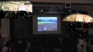 大分七瀬ボーイズ第7期生卒団式の会場の様子です。 2013.9.23 エルセル...