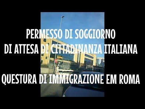 Permesso di Soggiorno di Attesa di Cittadinanza - Roma - Itália - Caminhada  Pelo Mundo