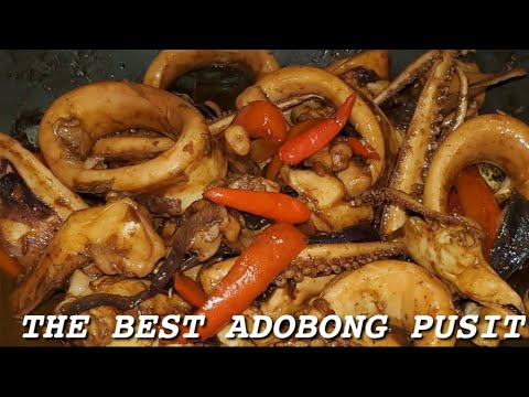 Paano Magluto Ng ADOBONG Pusit / HOW To Cook Adobo Squid