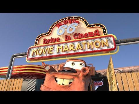 Mater Drive-in Theater Batman & Joker Superheroes vs Villains Disney Cars Toys Movies EPISODE 1