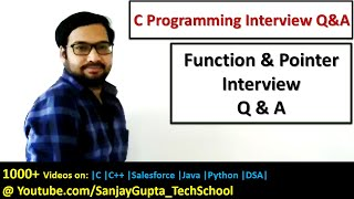 Functions and Pointers in C Programming Interview Questions and Answers by Sanjay Gupta in English