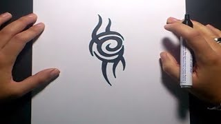 Como dibujar un tribal paso a paso 100 | How to draw one tribal 100