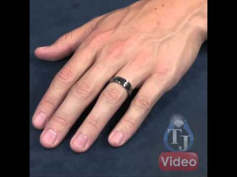 Timoku Titanium Mens Ring By Edward Mirell Drop Edge 7mm