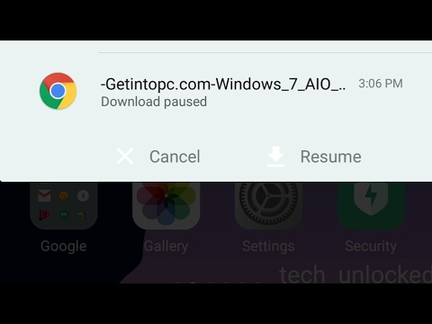 how to stop or pause chrome downloads on android youtube