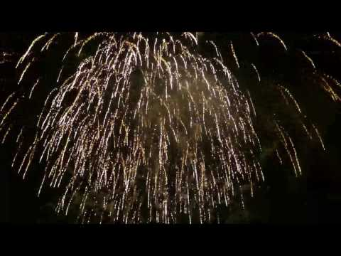Fireworks Display At Caerphilly Castle - Bonfire Night 2015