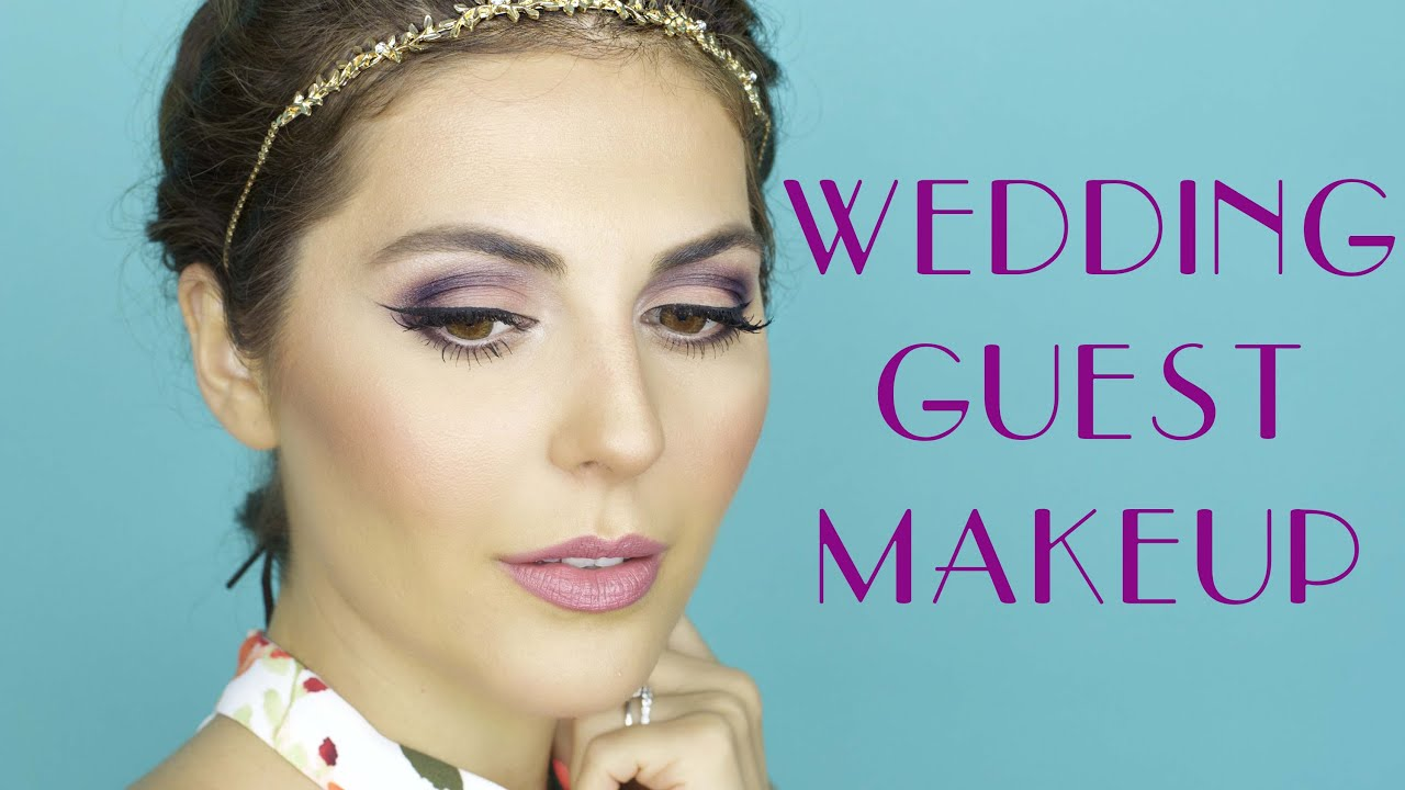 Wedding Reception Guest Makeup : Bridesmaid + Wedding Guest Plum Makeup Tutorial - YouTube