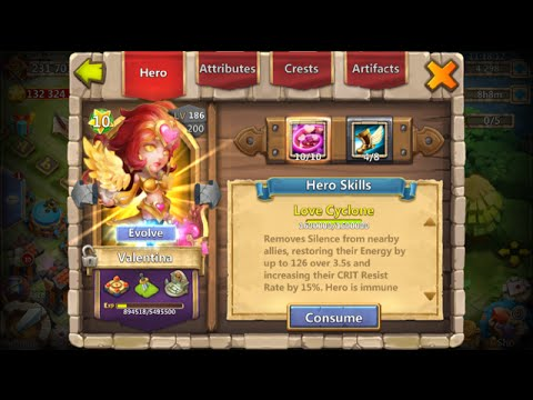 Valentina Evolved 10 Star 10/10 Skill Inscribed To 100 INSANE Castle Clash
