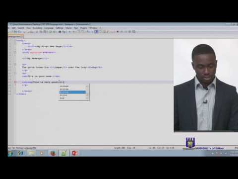 CSIT 208 - Session 9 - HTML Demonstration