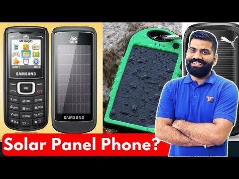 Why No Solar Panels on Phones? Free Charging?
