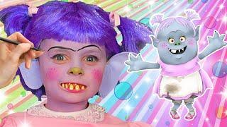 Bridget Face Paint | Trolls | FunPop!
