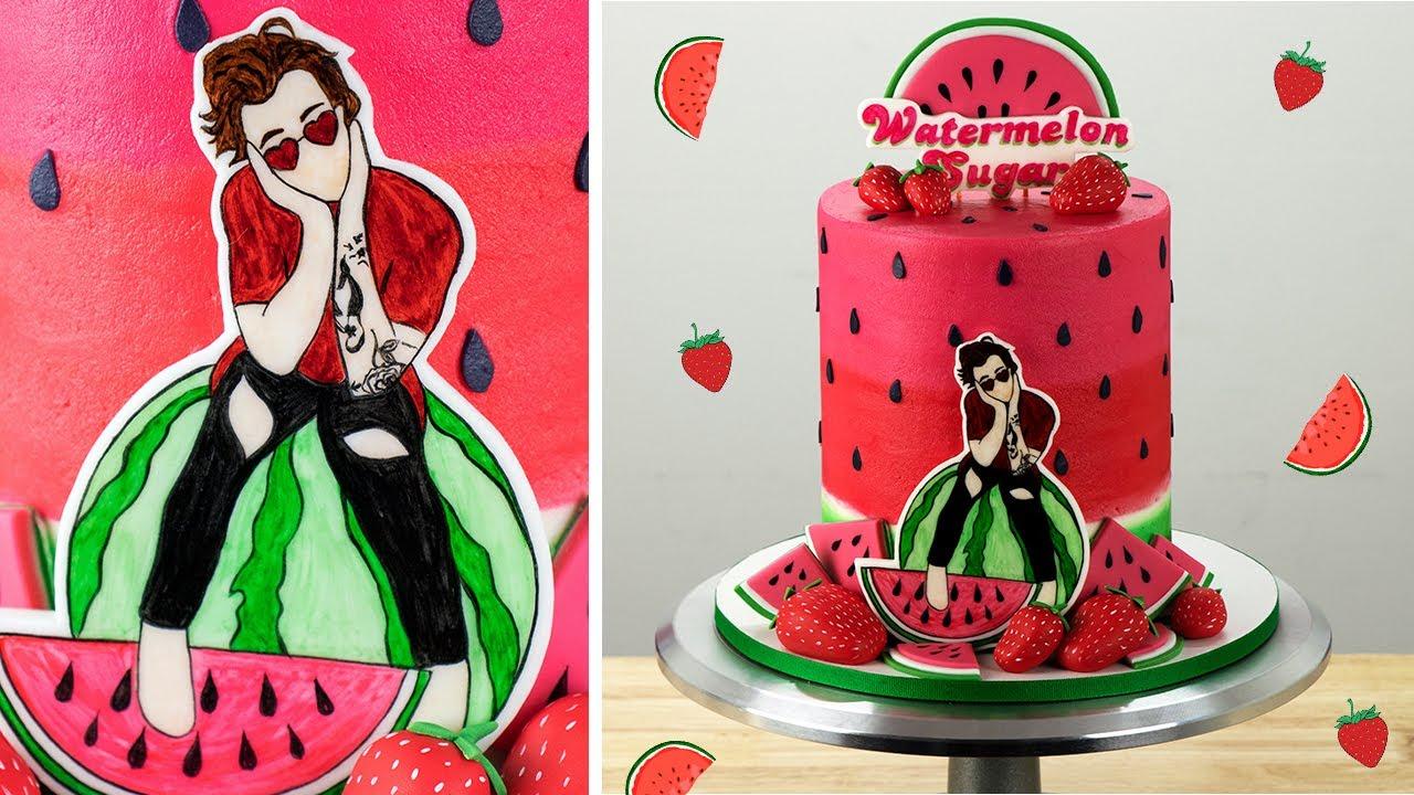 Harry Styles Birthday Cake Watermelon Sugar Youtube