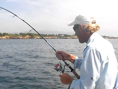 Fishing in Spain, Fantastic fight with great Leerfish!!!!