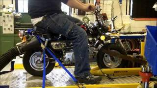 OORacing dyno run 50 to 72cc tune up kit Monkey bike