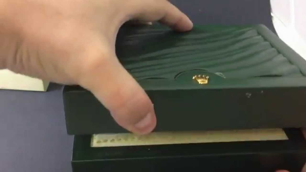 LUXURY WRIST WATCH BOXES , The Rolex New Green Box