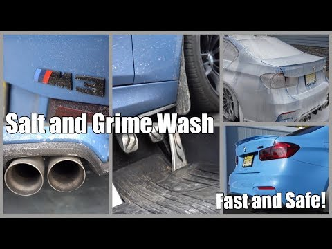 V89: How To Wash Winter Salt And Grime Off Your Car - A Scratch Proof Method For Your Paint (BMW M3)