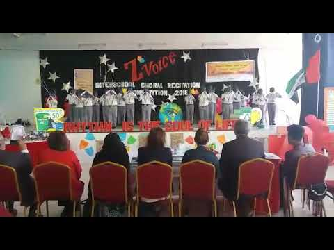 Alain Juniors School Choral Recitation competition Mother Nature's Cry
