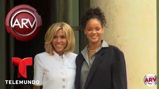 Así se vistió Rihanna para visitar al presidente de Francia | Al Rojo Vivo | Telemundo