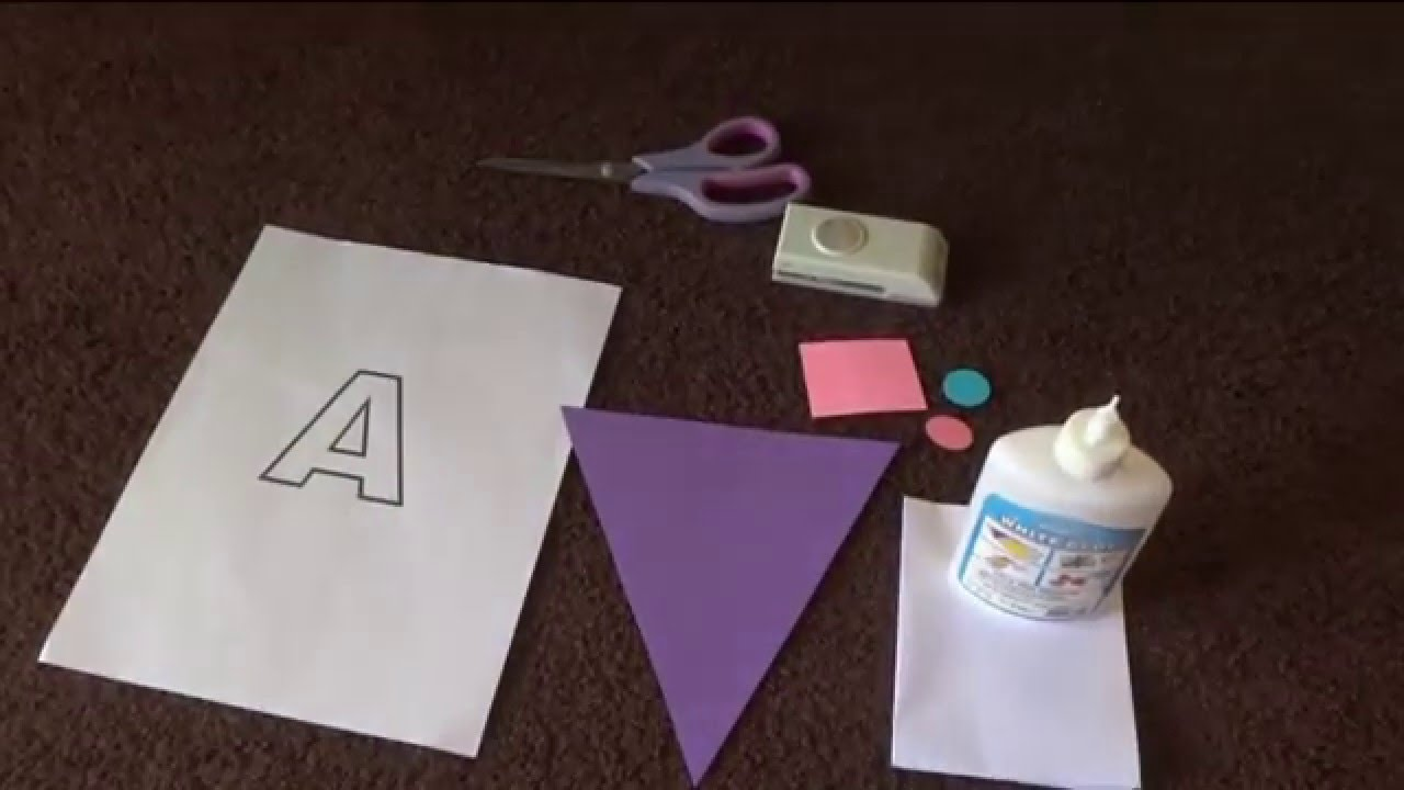 diy name banner for birthday party youtube