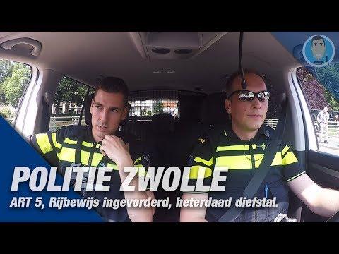 POLITIE ZWOLLE. Dienst samen met een politievrijwilliger. Melding: ART 5, aanrijding, diefstal en ..
