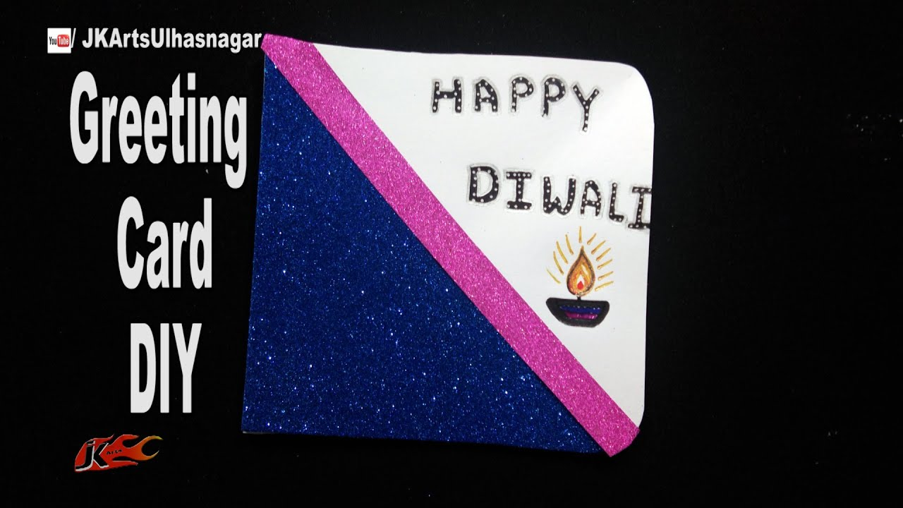 Diy easy diwali greeting card school project for kids how to diy easy diwali greeting card school project for kids how to make jk easy craft 196 youtube kristyandbryce Gallery