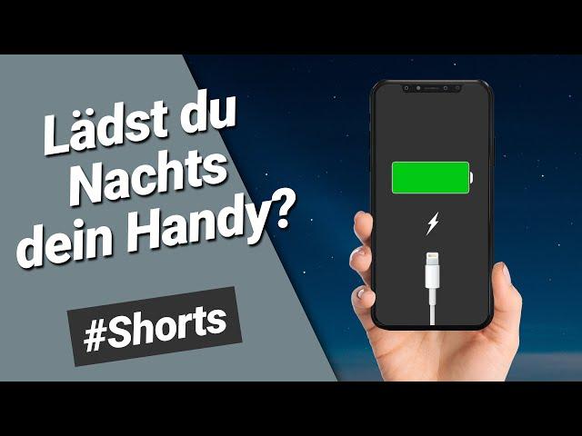 🔋 Lädst du Nachts dein iPhone? Dann brauchst du diesen Trick! Optimiertes Laden einstellen #Shorts