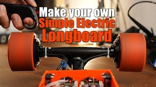 Make your own Simple yet Powerful Electric Motorized Longboard
