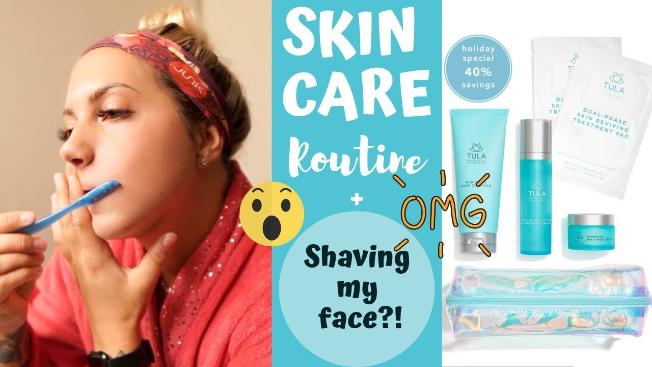 In Depth Skin Care Routing + Shaving My Face?!