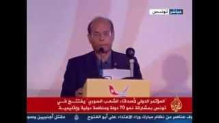 فيديو.. المرزوقي يطالب بالضغط على النظام السوري لوقف إطلاق النار