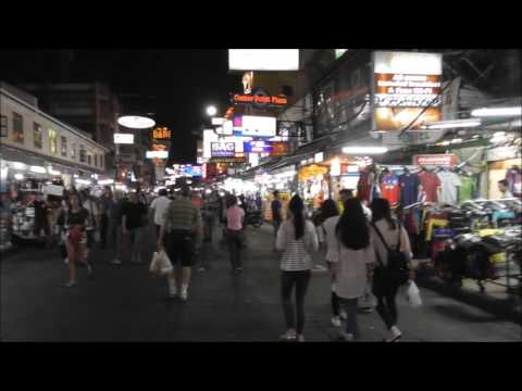 Bangkok Nightlife - Walking around Khao San Rd  & Soi Rambuttri