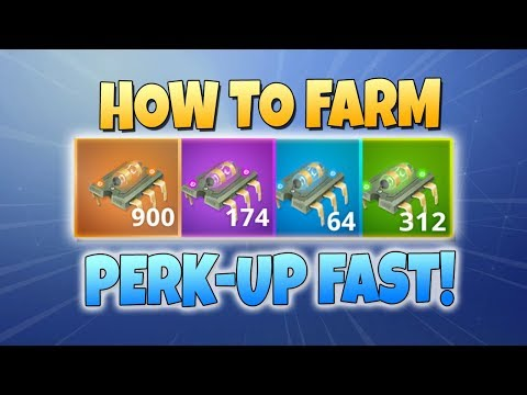 How to FARM PERK-UP! BEST METHODS | Fortnite Save The World