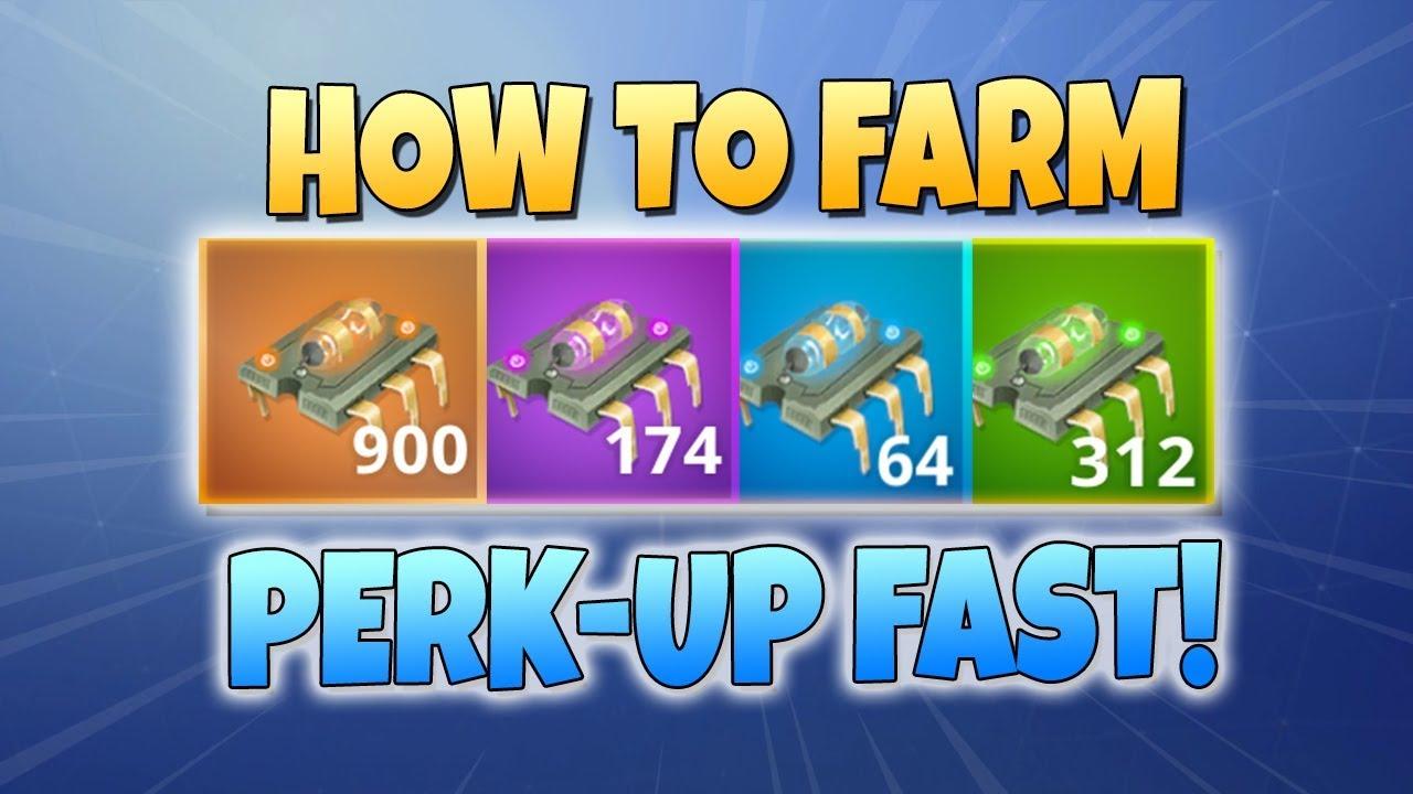 how to farm perk up best methods fortnite save the world youtube