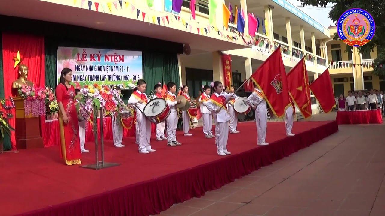 [Lễ Chào Cờ & Hát Quốc Ca] Trường Tiểu Học Kim Sơn – Sơn Tây – Hà Nội