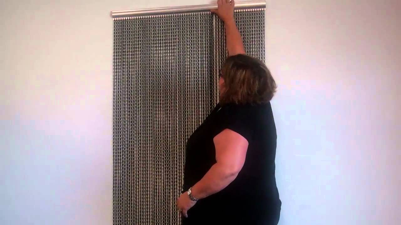 ShopWildThings.com - Aluminum Chain Curtains, How to Hang - YouTube