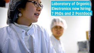 WWSC: Wood Science - Openings at Laboratory of Organic Electronics