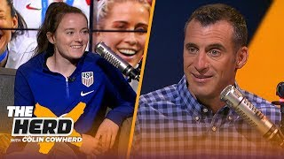 Rose Lavelle and Sam Mewis talk USWNT winning 4th World Cup & HC Jill Ellis stepping down | THE HERD