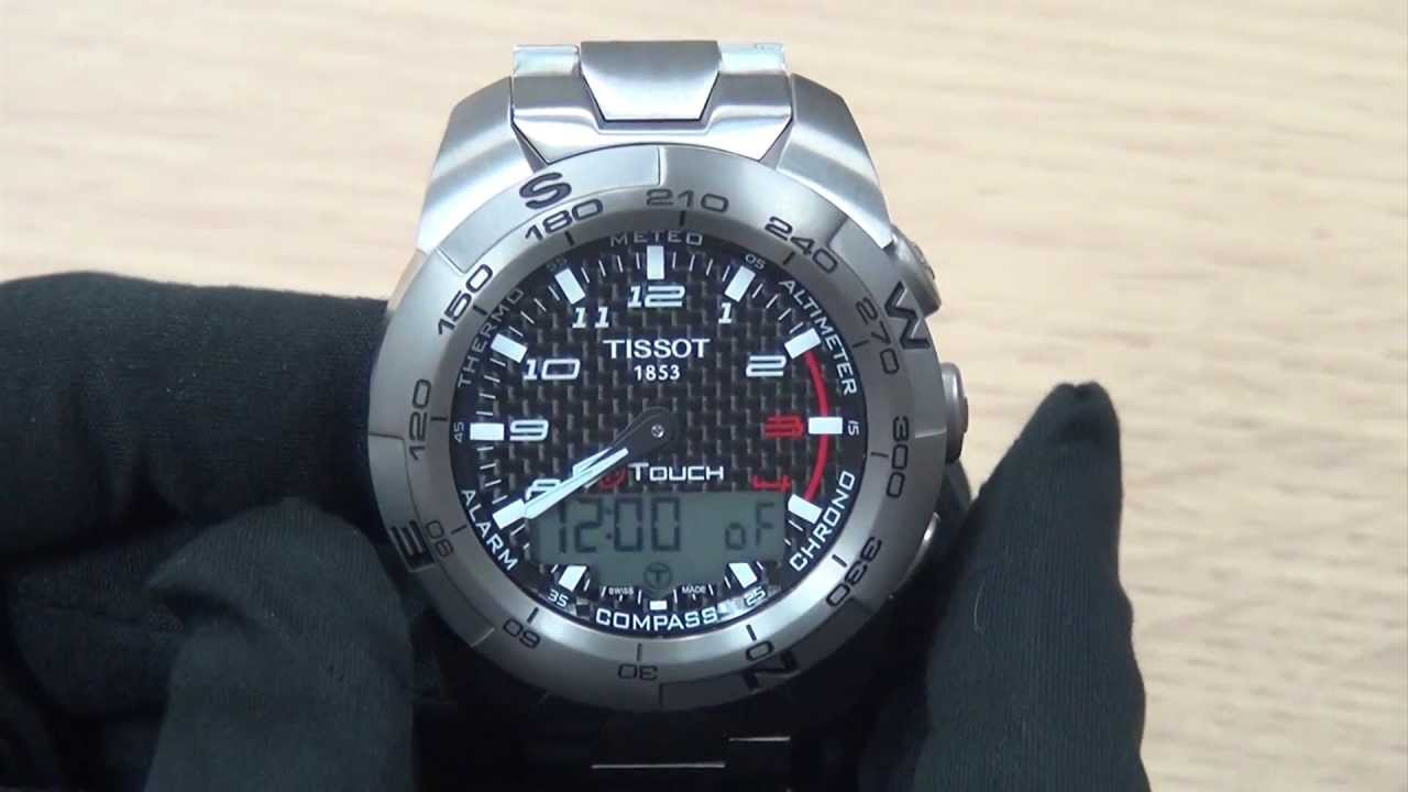 f1e9e5278da How To Set A Tissot T-Touch Watch - YouTube
