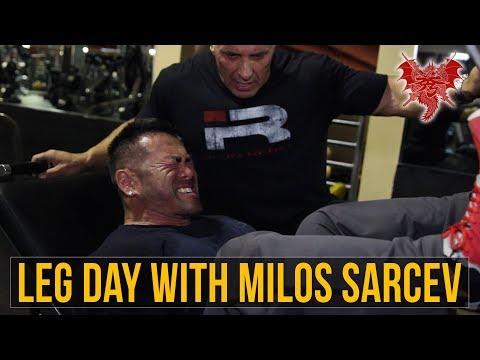 Hidetada Yamagishi  - Leg Day With Milos Sarcev - Vlog 35