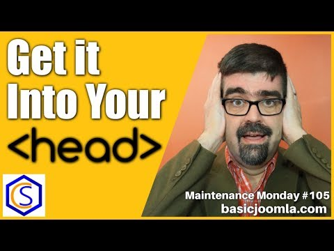 How To Add Code To The HEAD In Joomla 🛠 MM Live Stream #105