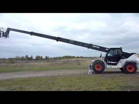 Работа стрелы телескопического погрузчика Bobcat T40170