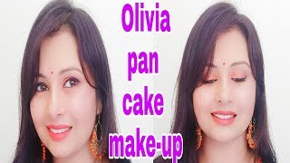 Olivia pan cake makeup tutorial|monsoon makeup|kaurtips ♥️