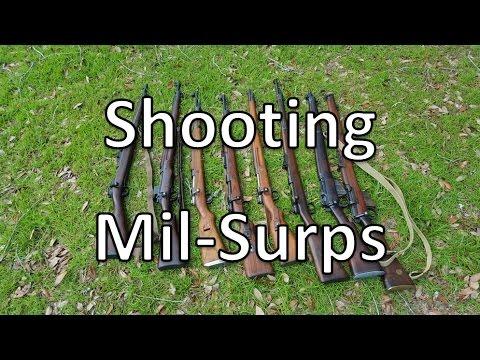 Shooting 8 Military Surplus Rifles