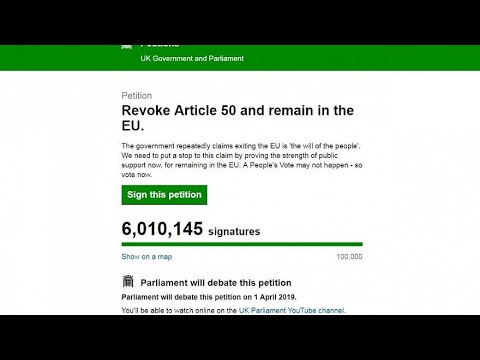 Brexit: Petition to remain in the EU hits 2.5 million signatures
