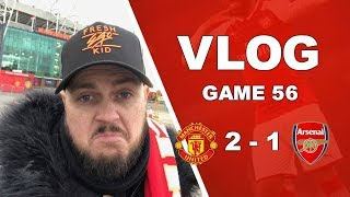 MAN UNITED 2 v 1 ARSENAL - I AM PROUD OF THE TEAM TODAY - MATCHDAY VLOG