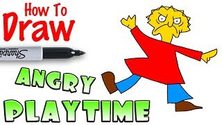 How to Draw Angry Playtime | Baldi