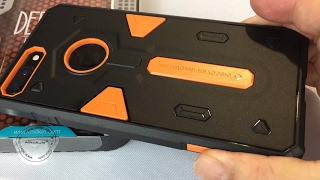 nillken defender ii orange rugged hybrid slim fit armor protection case for the iphone 7 plus