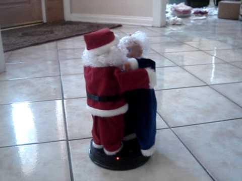 Santa Claus Dancing with Mrs. Claus