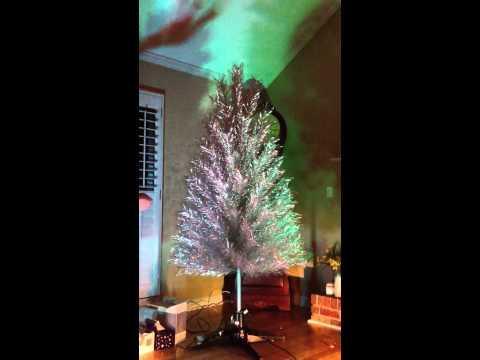 Moms aluminum Christmas tree