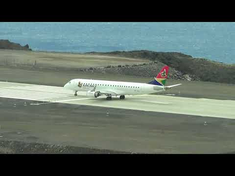 St Helena Airport, first landing of SA Airlink E190