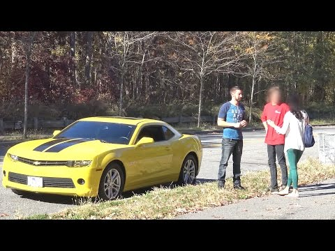 Nice Car for Girlfriend? (Social Experiment) - Gold Digger Prank