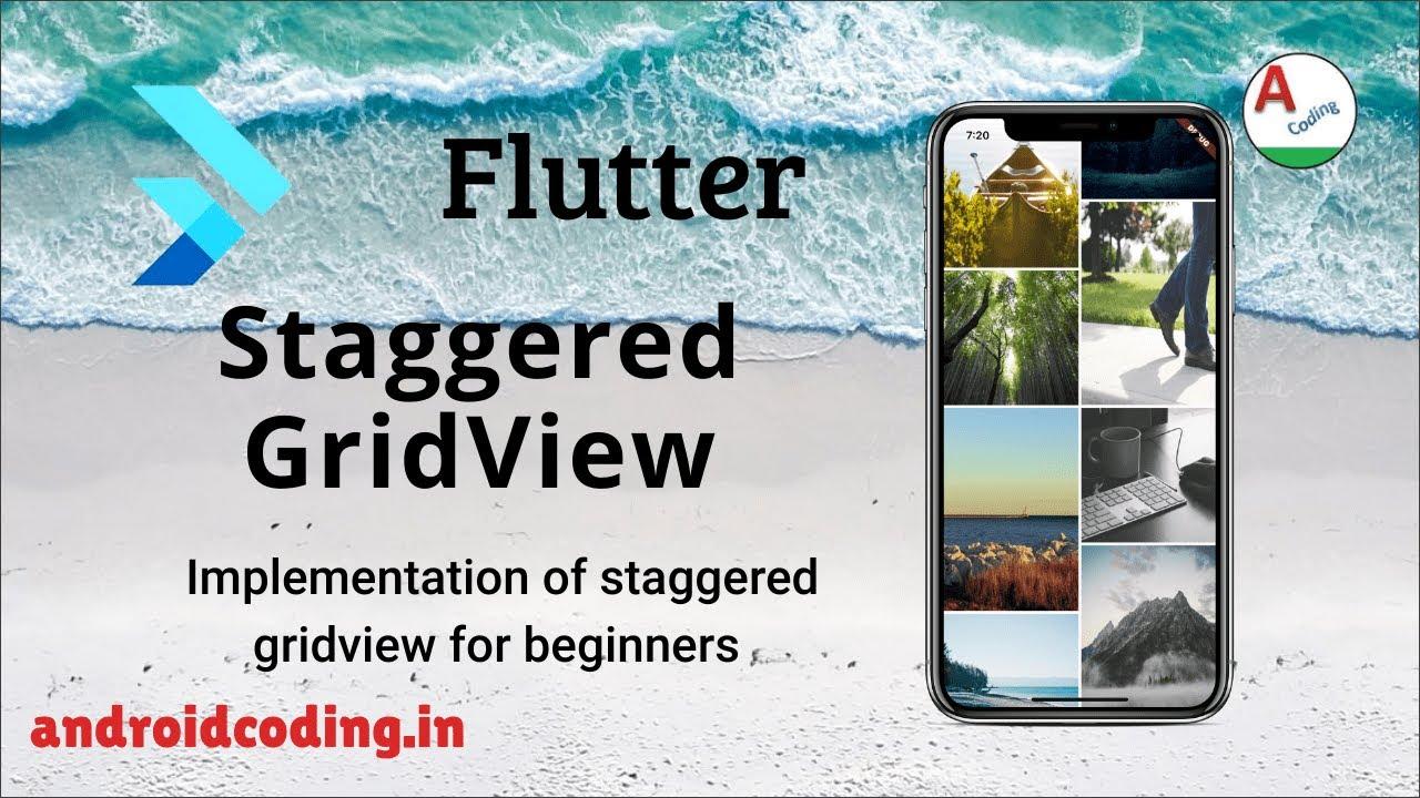Flutter staggered grid view tutorial for beginner | flutter coding